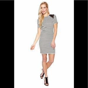 Cut 25 by Yigal Azrouël Piquet Striped Dress Sz 4